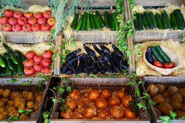 置いてある季節の新鮮な野菜は、調理体験にもBBQにも自由に使えます。