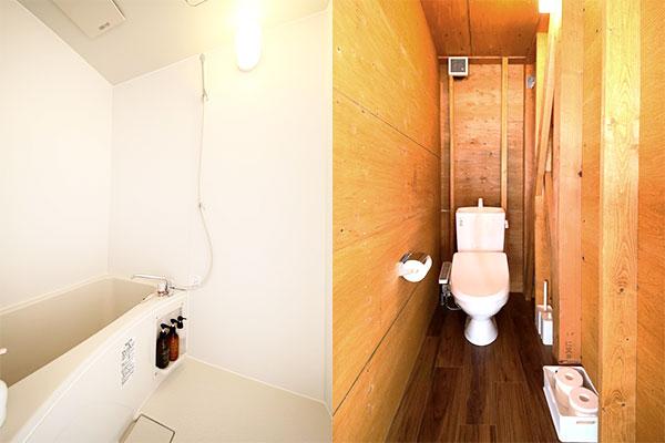 個別のバス・トイレ