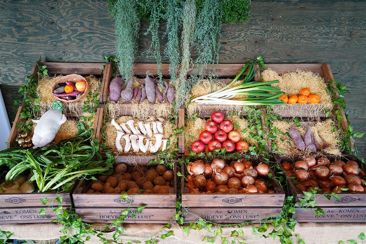 無料の置き野菜