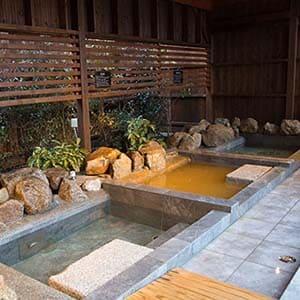 金温泉と三種のお風呂 花菖蒲